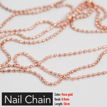 Nail-Chain Jewelry Stone-Decorations-Accessory Steel-Ball Rose-Gold Metal Silver Pixie