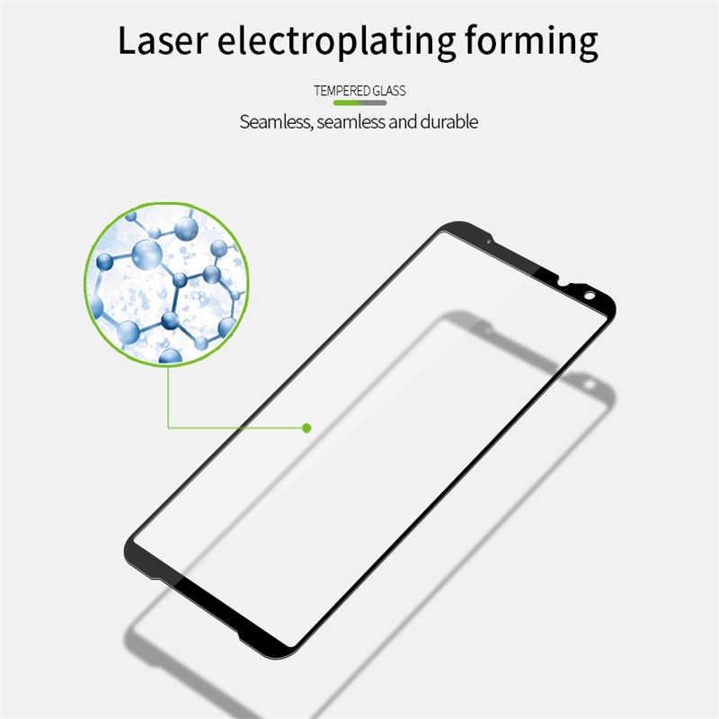 2 חתיכות מלאה כיסוי מזג זכוכית עבור Asus Rog טלפון השני 2 ZS660KL מסך מגן עבור Asus Rog טלפון ZS600KL מגן זכוכית