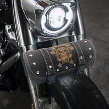 Toolkit-Bag Barrel-Saddle-Tool-Bag Motorcycle Harley Vintage Yamaha Honda Suzuki Round