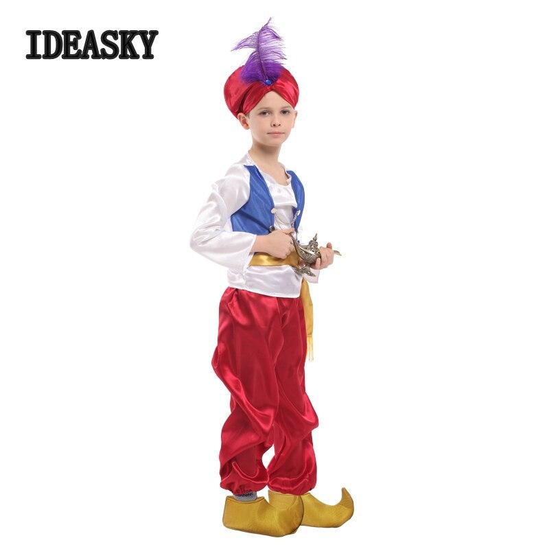 Boys Arabian Genie Aladdin Costume Arab Prince Child Kids Red Book Week Disney