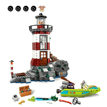 цена на 437Pcs 10431 Compatible 75903 Scooby Doo Haunted Lighthouse Minifigs Educational  Model Building Blocks Toys For Children Gifts