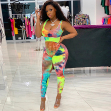 Tie Dye Print Strap Jumpsuit Fitness Sporty Sexy Night Club Party One Piece Outf