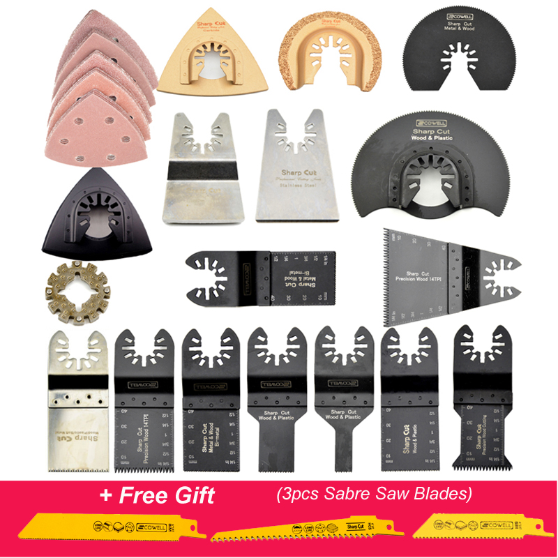 30% Off Oscillating Tool Saw Blades  42pcs Kit Including An Adapter Suit For Fein ,Dremel,Bosch,Milwaukee Machines And So On