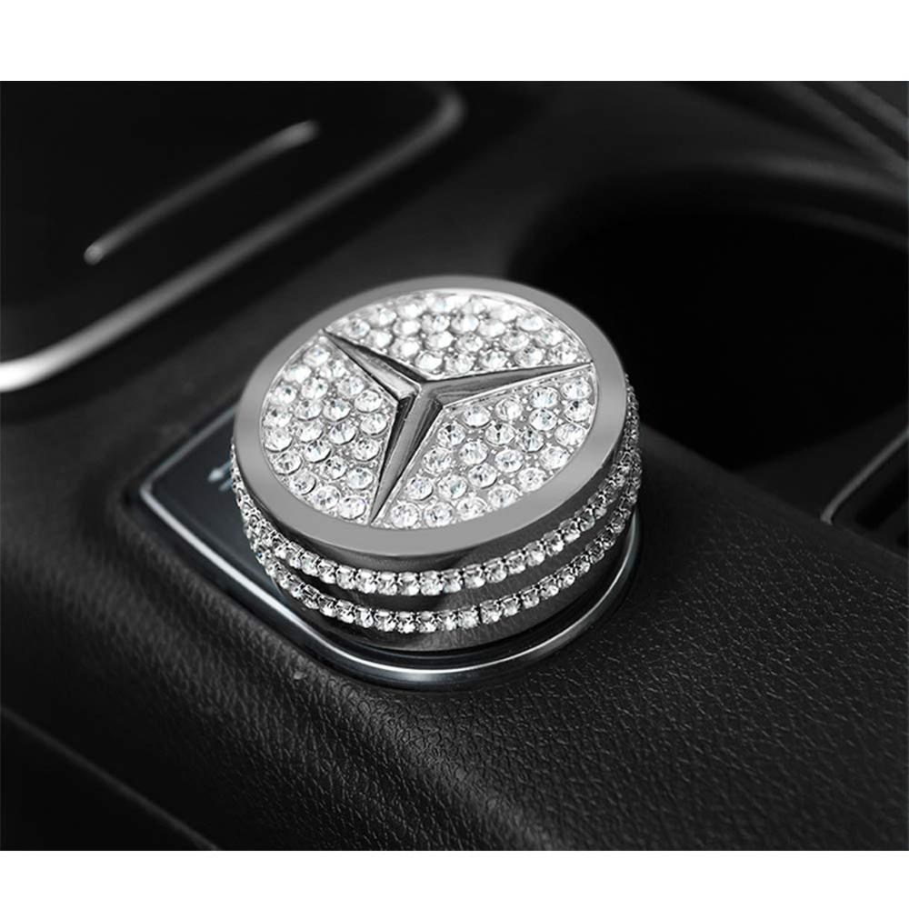 Bling Crystal Shiny Diamond interior Multimedia Media Control Cover Accessory for Mercedes Benz-in Automotive Interior Stickers from Automobiles & Motorcycles