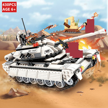 430Pcs Military Tank Building Blocks Sets Hero Army Panzer Weapon Gun RPG UN Force Technic DIY LegoINGs Bricks Toys for Children