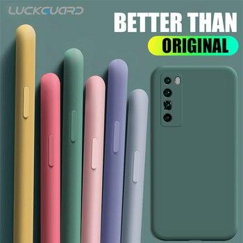 Перейти на Алиэкспресс и купить Мягкий чехол карамельного цвета для Huawei Nova 5 6 Pro 7 se Honor 20 30 V20 30 Pro, задняя крышка Originla, силиконовый тонкий ударопрочный чехол 360