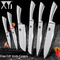 Accesorios de cuchillos de acero inoxidable de cocina XYj, utilidad de Paring Santoku, cuchillos de acero inoxidable para rebanar pan, nueva llegada 2019