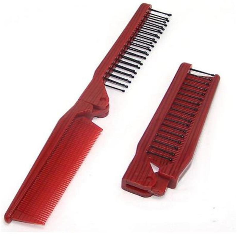 Складная расческа для волос, Антистатическая расческа, Пластиковая Складная распутывающая расческа, инструмент для укладки волос