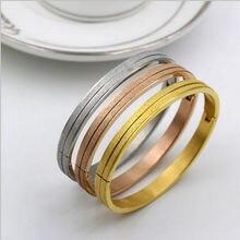 3 Цвет с тусклой полировкой браслет Высший сорт из титановой