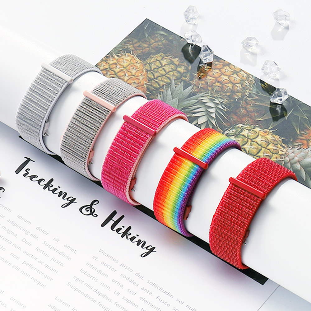 Woven Nylon Band For Samsung Galaxy Watch 42mm 46mm Active2 S3 Frontier Strap 22mm 20mm For Huawei Gt Pulseira For Amazfit Bip