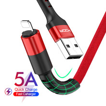 ROCK USB Cable For iPhone 11 Pro Xs Max Xr X 8 7 6 6s 5s se