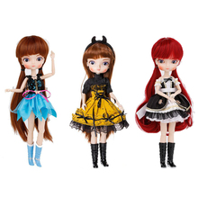 Bjd-Doll Wig-Shoes Dress Girls with Full-Outfits Makeup Collection Kids Toys Christmas