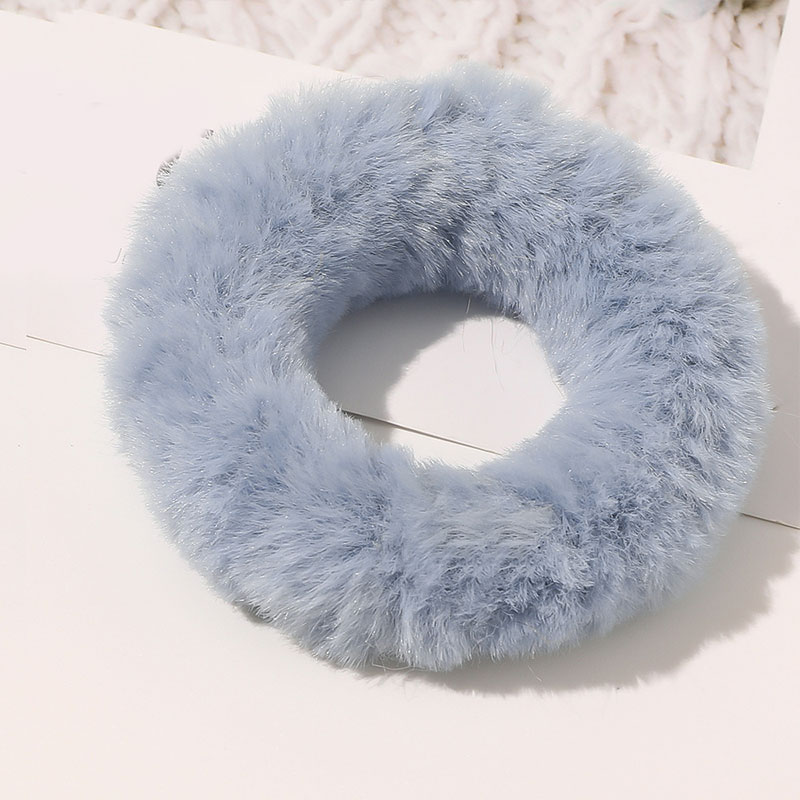 Карамельный цвет искусственная пушистый кролик Scrunchies мягкий ручной работы мех резинки для волос кольцо резинки для волос для девочек Ponytai д...