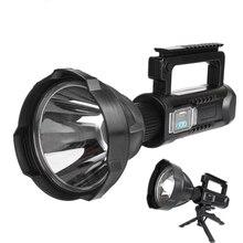 Powerful LED Flashlight XHP50/XHP90 Handheld Searchlight LED Lighting USB Torch 8000 Lumen Super Bright Portable Spotlights