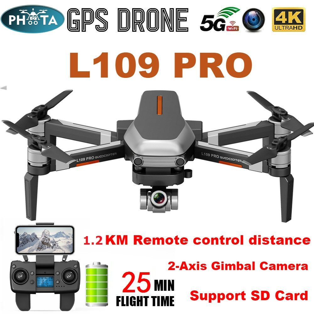 L109 Pro X1 PRO GPS Drone 4K Two-Axis Anti-Shake Gimbal Camera HD 5G WIFI FPV Brushless Motor 1 2km Long Distance RC Quadcopter
