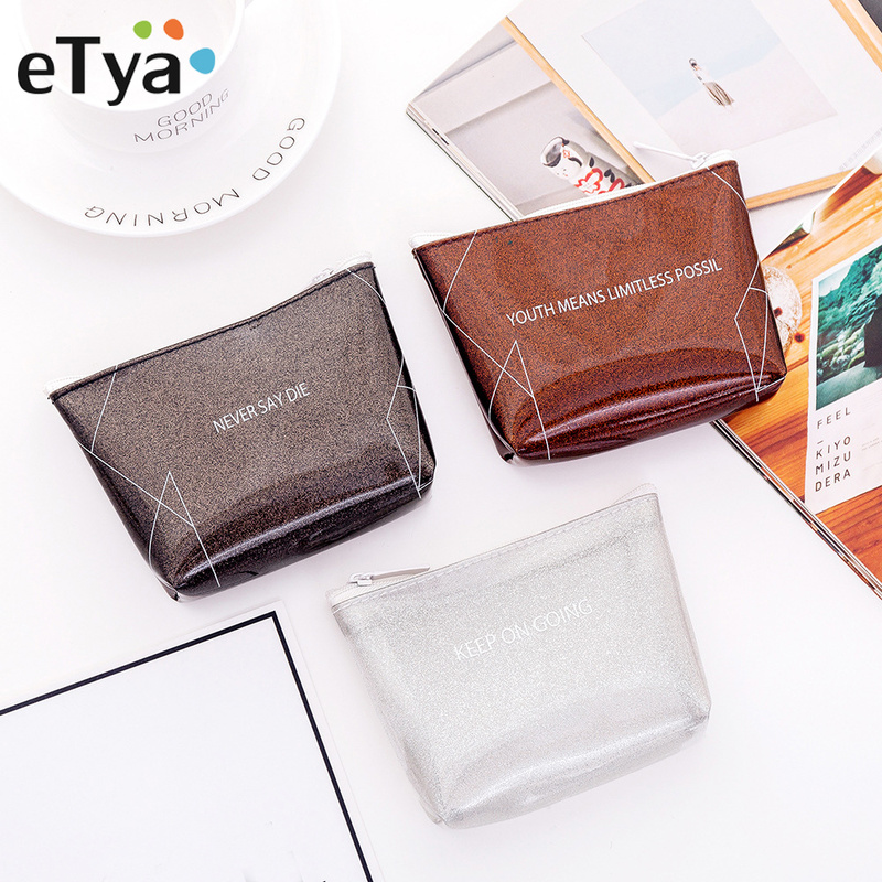 ETya Women Mini Cosmetic Bag Travel Make Up Bags Fashion Ladies Pouch Neceser Toiletry Organizer Case Clutch Tote Hot Sale