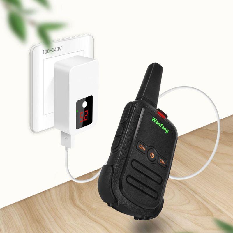 Walkie-talkie professional mini color ultra-thin ultra-small USB direct charging X6HA