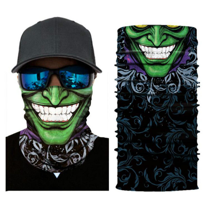 Motorcycle Face Mask Cycling Halloween Head Scarf Neck Warmer Skull Ski Balaclava Headband Scary Face Shield Mask Outdoor 2019