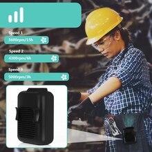 מותניים מאוורר, נייד דיבורית USB מאוורר, מיני לביש קליפ על מאוורר, רוח חזקה, 3600MAH סוללה נטענת עבור קמפינג, דיג, Cyc