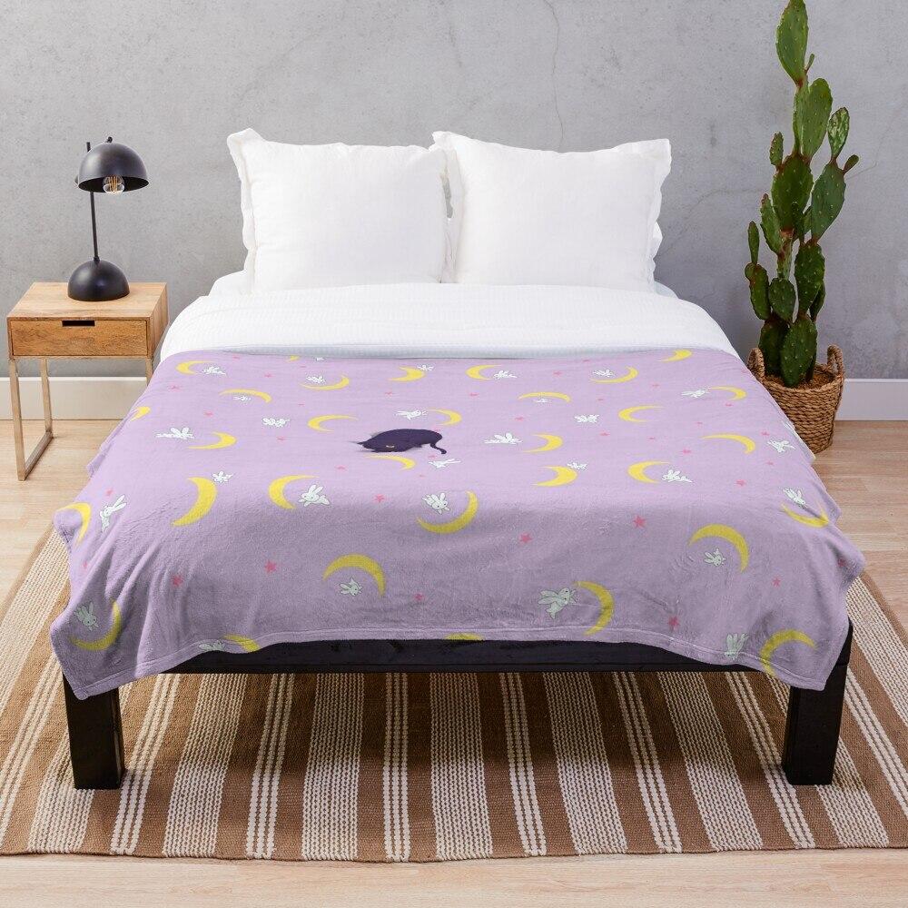 Soft Blanket For Bed Sherpa Flannel Fleece Blanket Home Travel Sofa Soft Throw Blanket Usagis Bed