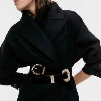 Fashion Women New Jewelry Rhinestone Diamond Pearl Belts for Women Waist Dress Silver Gold Chain Belt Luxury Chain Belts