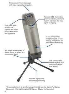Image 2 - Offres spéciales 1 pièces 2 pièces 4 pièces 100% original Samson C01u Pro USB Microphone à condensateur de Studio professionnel micro de surveillance en temps réel