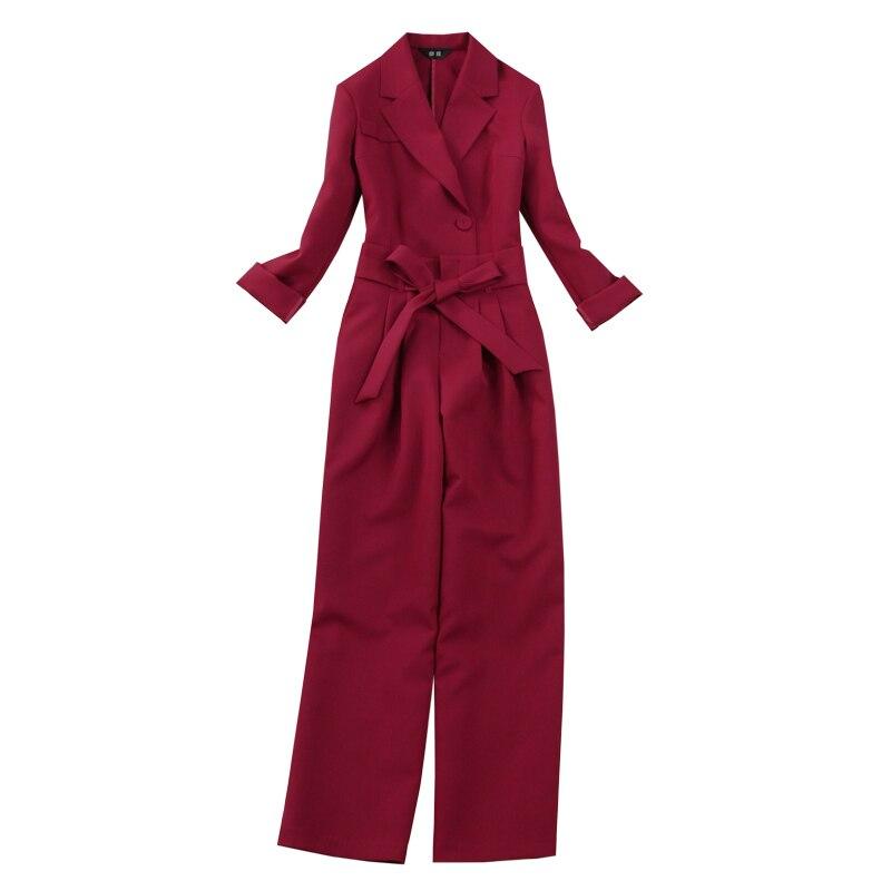 2020 New Women's Suits Pants Two Piece Set Casual Slim High Quality Ladies Blazer Jacket Elegant High Waist Wide Leg Pants