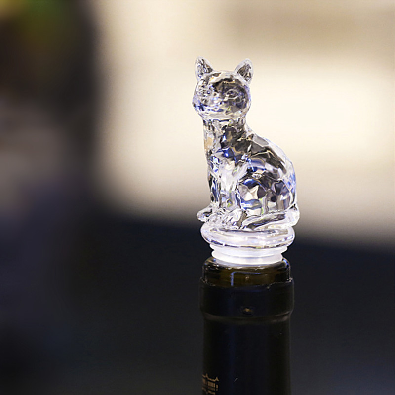 Animal Wine Bottle Stopper Champagne Silicone Cap Cute Cat Dog Seal Cover Lid