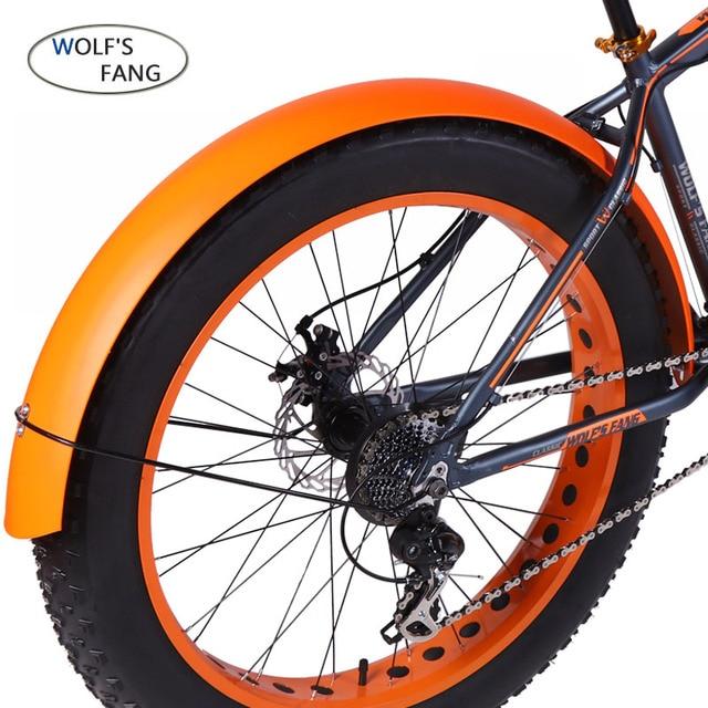 Wolfun fang bisiklet dağ bisikleti yol kar yağ hızlı bisiklet aksesuarları 26*4.0 çamurluk tam kapsama yeni ürün ücretsiz kargo