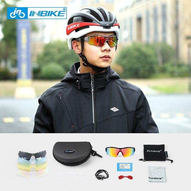 INBIKE Polarized Cycling Glasses 5 Lenses Sport Sun Glasses MTB Bike Eyewear Men Women Road Bike Goggles Bicycle Sunglasses 5