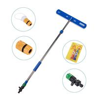 Car Wash Brush High Pressure Water Spray Outdoor Mop Stainless Steel Long Handle Car Detachable Car Wash Brush Car Accessories