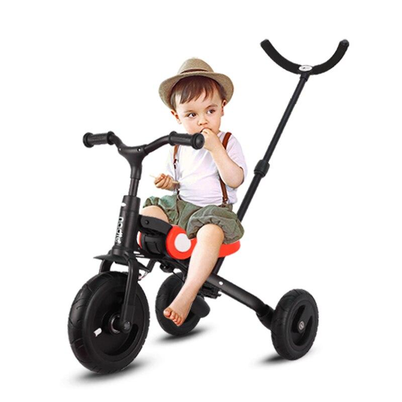 2019 nouveau jouet d'équitation bébé tricycle enfants pliant vélo enfant balance voiture 3 en 1 landau poussette