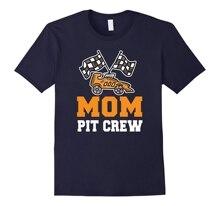 new men shirt Mom Birthday Pit Crew TShirt Car Race Theme Bday Party