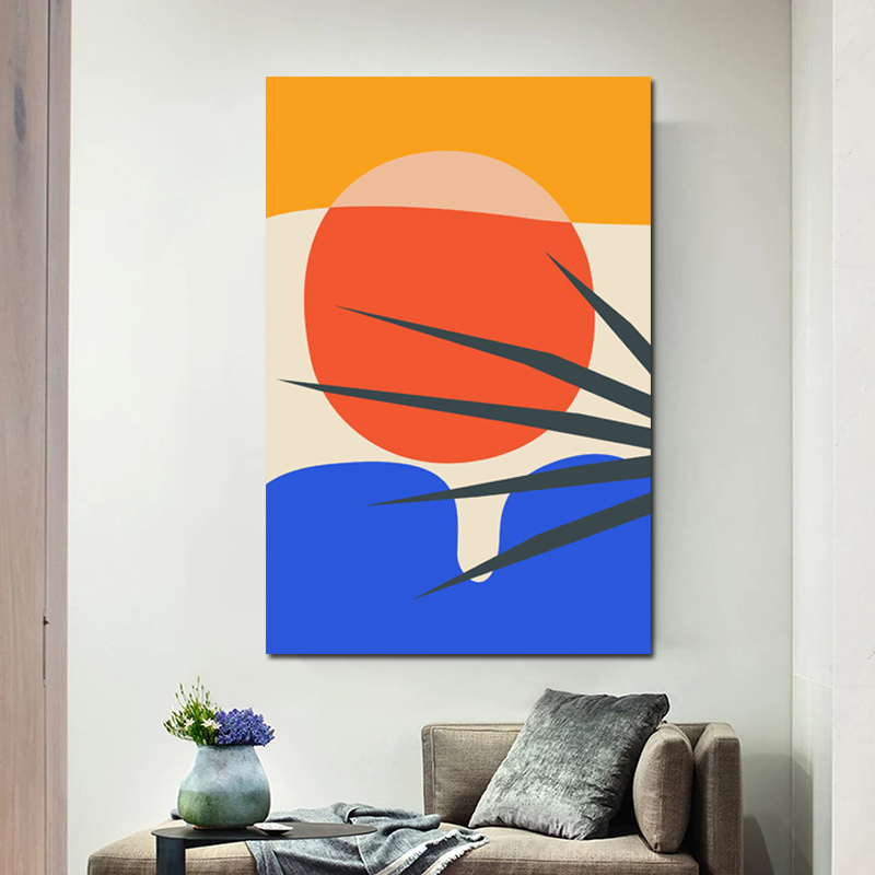 Hot Sale Geometric Abstract Scene Oil Painting Posters Modern Wall Art Canvas Painting Unique Gift For Art Wall Home Decoration