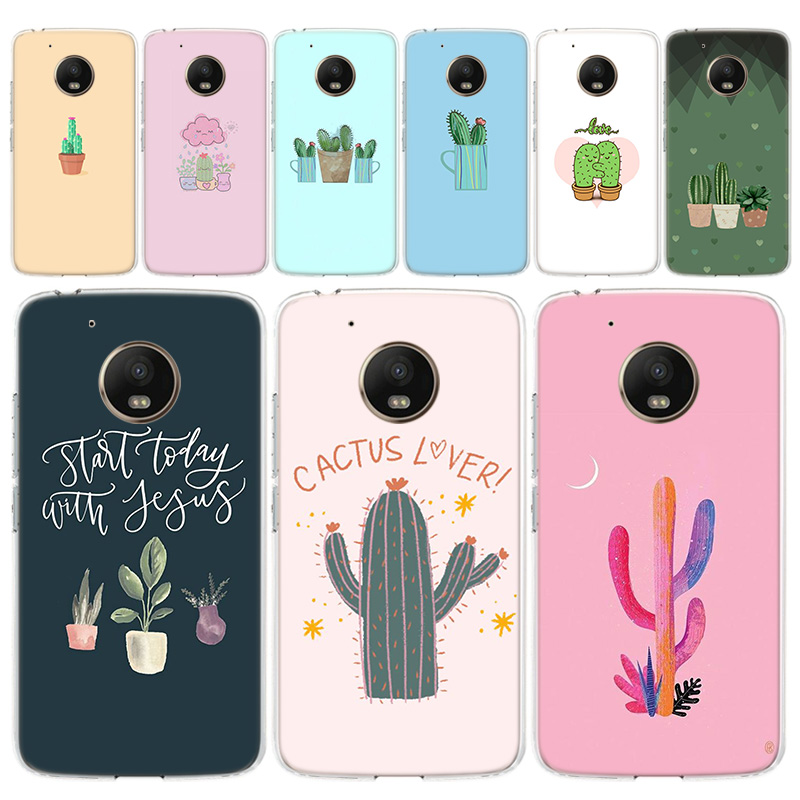 Tropical Floral Plant Cactus Vibes Phone Case For Motorola MOTO G8 G7 G6 G5 G5S G4 E6 E5 E4 Plus Play Power One Action Soft Sili