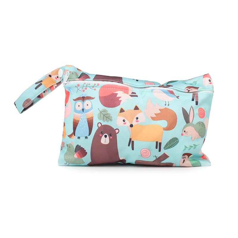 15*22.5cm Waterproof Reusable Wet Bag For Nursing Menstrual Pad Baby Cloth Diaper Nappy Travel Wetbag Maternity Diaper Bag