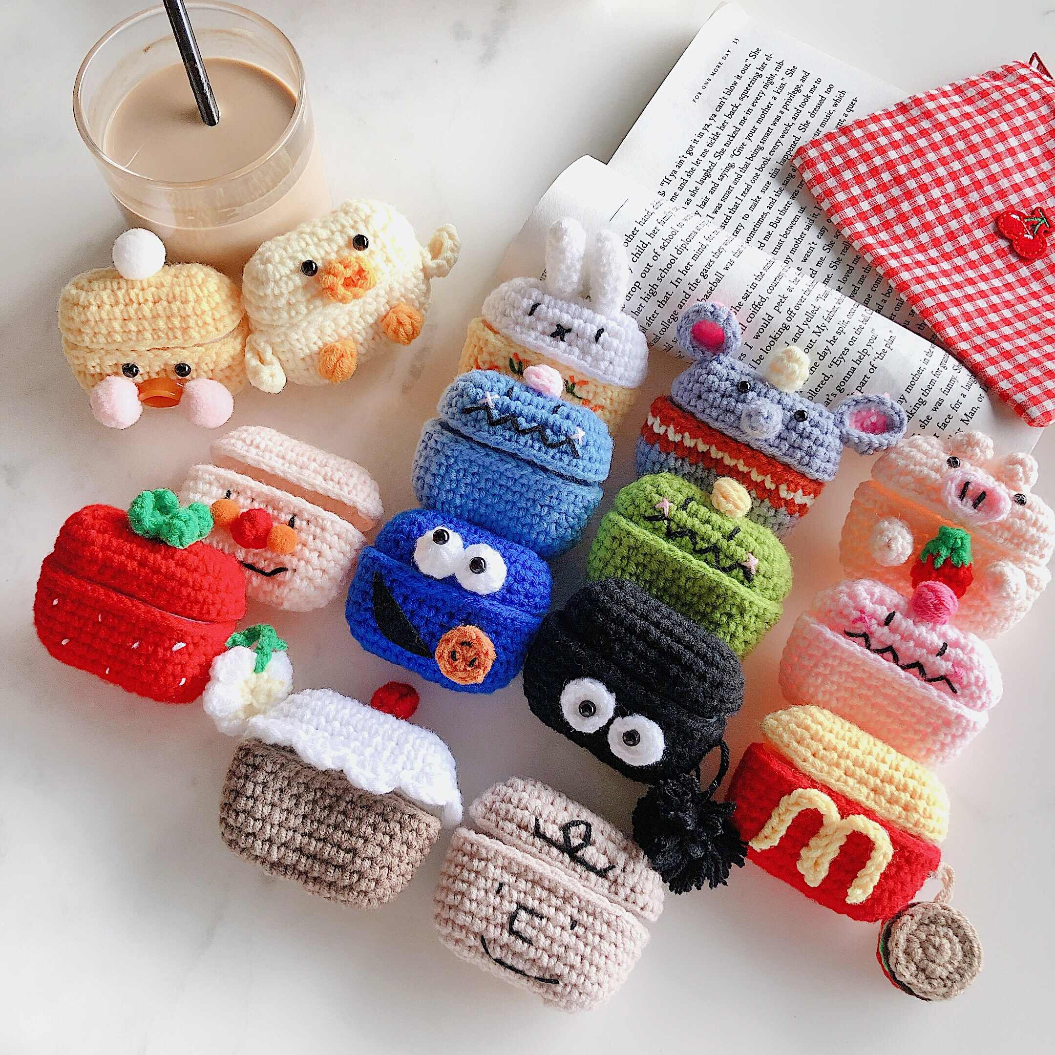 Plush Knitted Earphone Case For AirPods Pro Case Cute Animal Knitting Cover For Apple Air Pods Pro 3 Case Cover Fuzzy Accessorie