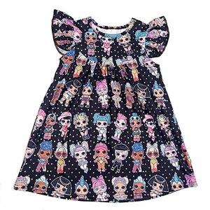 Image 1 - Hot sale baby dress girls printing pattern dresses kids party dress for kids children frocks designs