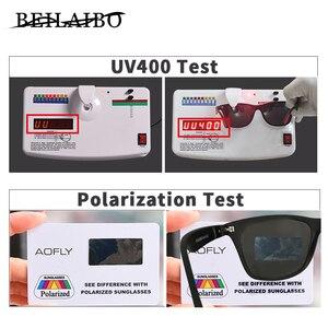 Image 4 - 2019 Nieuwe Klassieke Gepolariseerde Zonnebril Mannen Vrouwen Rijden Vierkante Frame Zonnebril Mannelijke Goggle UV400 Driver bril Nacht Bril