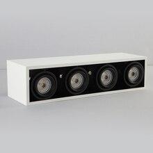 Новые белые сетчатые светодиоды на решетку прямоугольник 85-265 в Mr16* 4 светильник наряд потолочное свободное отверстие рамка свет гриль огни