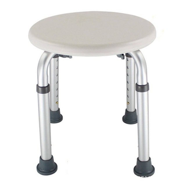Non-slip Bath Chair w/ 6 Gears Height Adjustable 1