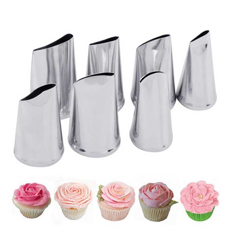 7pcs/set Nozzles For Confectionery Bag Cake Icing Decorating Tools Confectionery Nozzles Cream Nozzles Reusable Pastry Bag