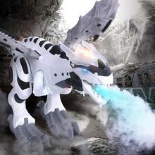 2021 latest mechanical dinosaur sprayer wing cartoon electronic walking animal model dinosaur robot pterodactyl children gift