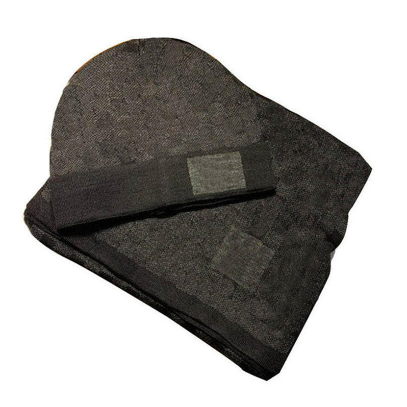 Autumn winter fashion trends Scarf and Hat Classic lattice designers bone cap Mens women Couple scarf  Men Scarves Set