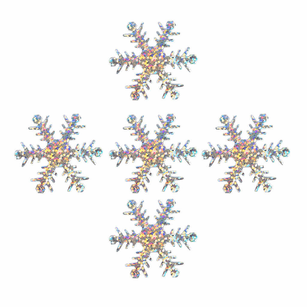 100pcs זהב כסף סימולציה Snowfakes קישוטי בד חג המולד Snowflake קונפטי קישוט 4cm חג המולד מסיבת חדר תליון
