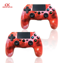 K ISHAKO 1pcs/2pcs Wireless Bluetooth 4.0 Gamepad Joystick For PS4 Controller DualShock4 PlayStation4 Touch PAD Star Red