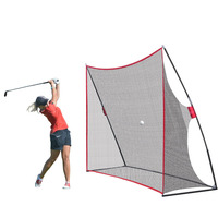 Portable 10x7ft Golf Practice Hitting Swing Nylon Net For Indoor Outdoor Detachable Golf Cage Training Aids With Carry Bag HW264