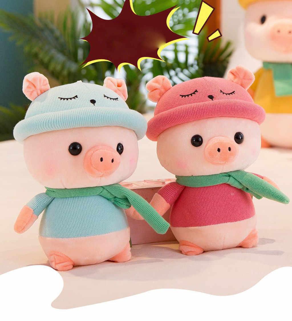 أطفال خنزير محشوة الحيوان أفخم خنزير لعبة أطفال هدايا الطفل 10.5 بوصة الكرتون الحيوان محشوة أفخم لعب هدية عيد للأطفال