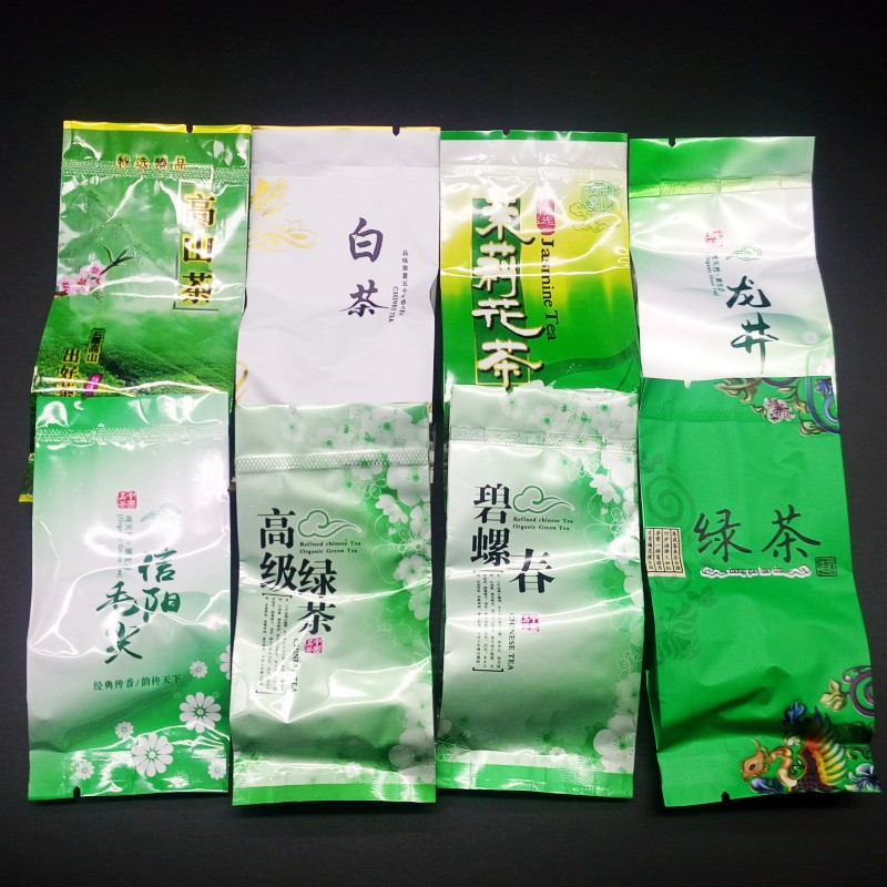 2019 New Spring Arrival Fresh Chinese Green Tea Top Grade Weight Loss Tea Healthy Care Tea 8 Kinds of Green tea Each 4 bags 2