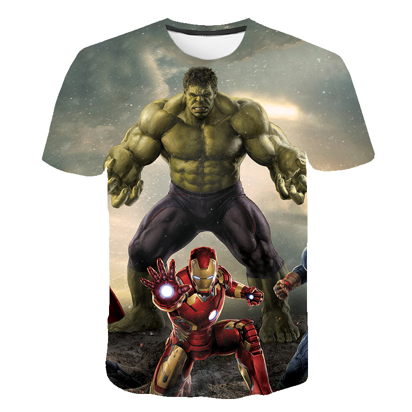 Summer Cool 3D Kids Clothes Spiderman Ironman Child T-shirt  Superman Anime Harajuku T Shirt Costume Superhero Boys Clothes Tops